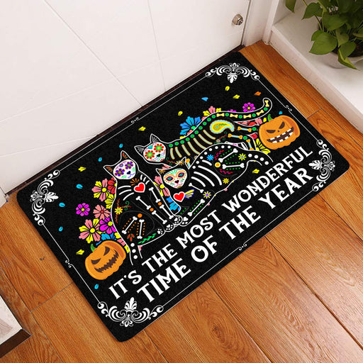 It's The Most Wonderful Time Of The Year - Halloween Doormat | Welcome Mat | House Warming Gift | Christmas Gift Decor