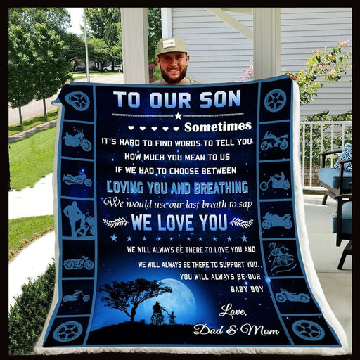 To Our Son Fleece Blanket We Love You - Gift For Son | Family Blanket