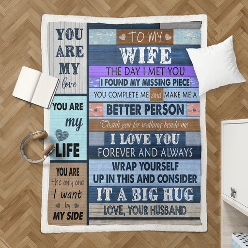 Husband To Wife Fleece Blanket - Gift For Wife