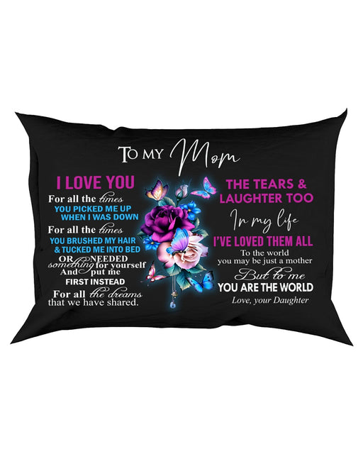 Pillow - To My Mom I Love You - Gift For Mom From Daughter | Christmas Gift