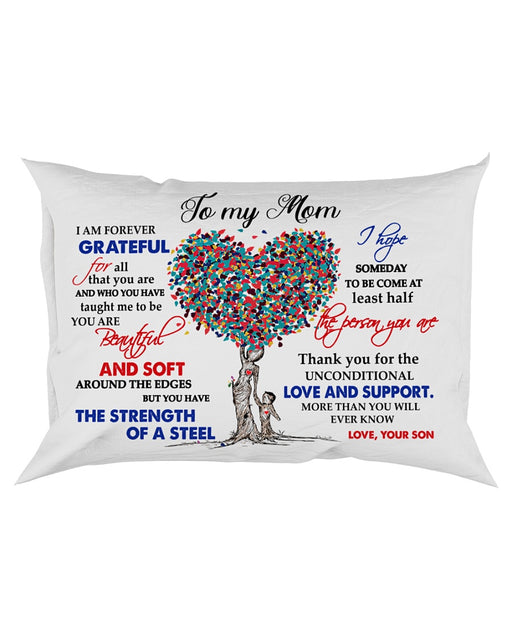 Pillow Son To Mom Heart Tree - Gift For Mom | Christmas Gift