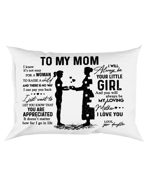 Pillow - Letter To My Mom From Little Girl - Gift For Mom | Christmas Gift