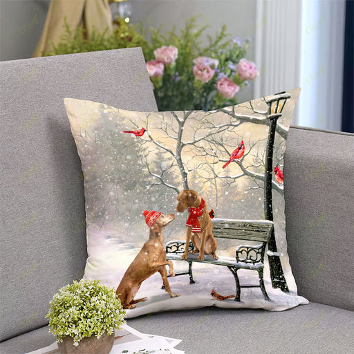 Vizsla On A Date Square Pillow | Christmas Gift
