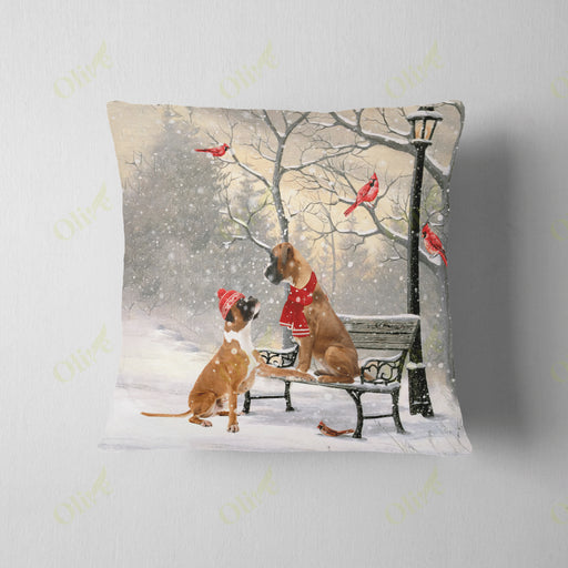 Boxer On A Date Square Pillow | Christmas Gift