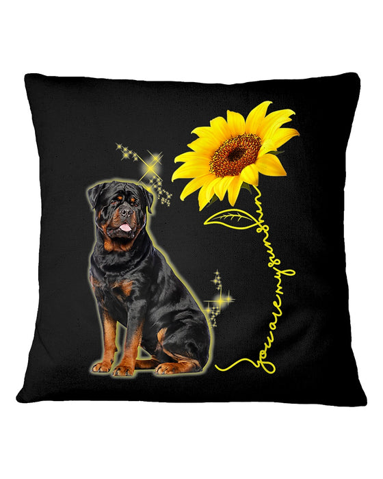 You Are My Sunshine Sunflower Rottweiler Pillowcase