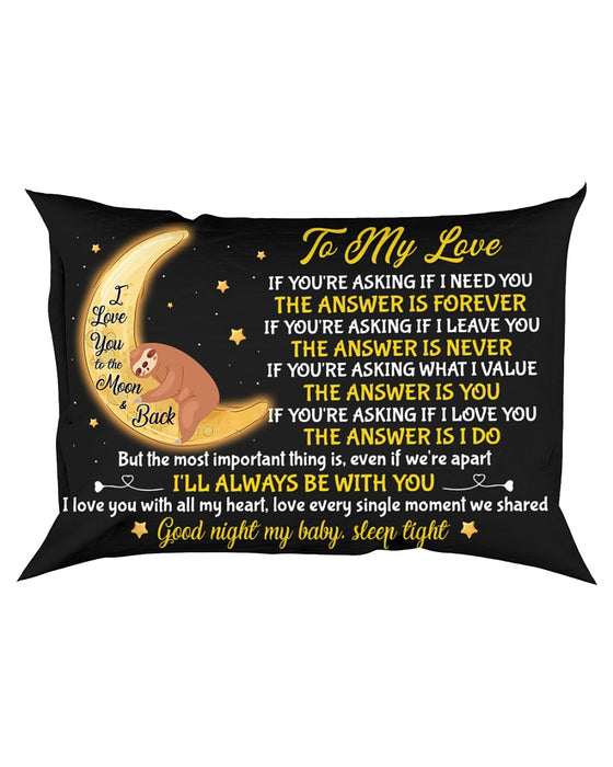 To My Love, I Love You With All My Heart Pillowcase - Gift For Couple