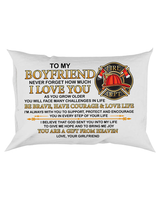 Firefighter Boyfriend I'm Always With You Pillowcase