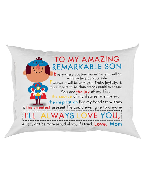 Son Mom Couldn't Be More Proud Of You Pillowcase