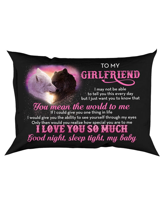 I May Not Be Able To Tell You Wolf Pillowcase