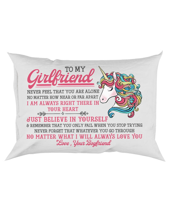 Unicorn Girlfriend Near Or Far Apart Pillowcase