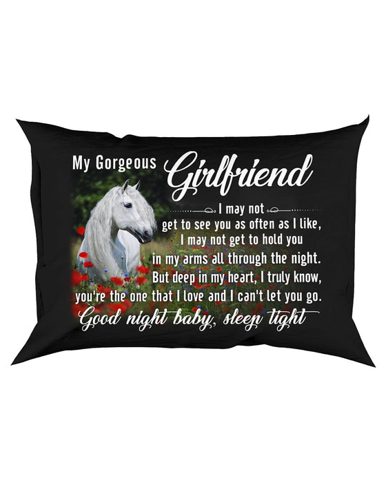 Horse Girlfriend Good Night Baby Sleep Tight Pillowcase