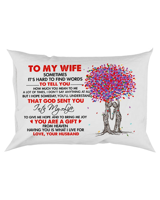 God Sent You Into My Life Family Pillowcase