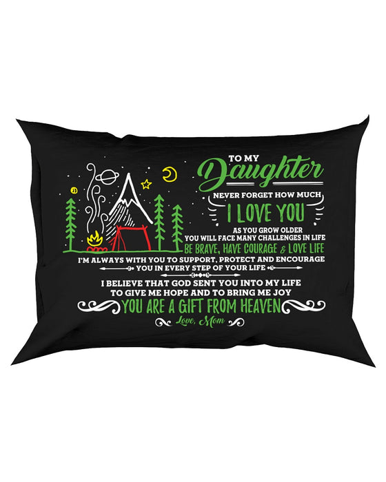 Camping Daughter Mom I'm Always With You Pillowcase