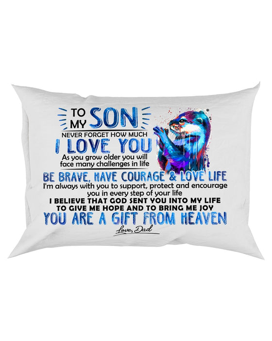 Otter Son Dad I'm Always With You Pillowcase