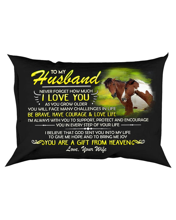 Horse Husband I'm Always With You Pillowcase