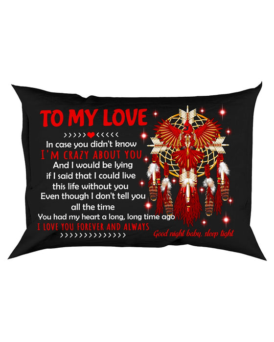 My Love I Am Crazy About You Bird Pillowcase