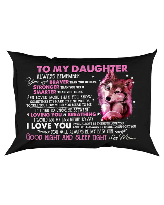 Loved More Than You Know Wolf Pillowcase