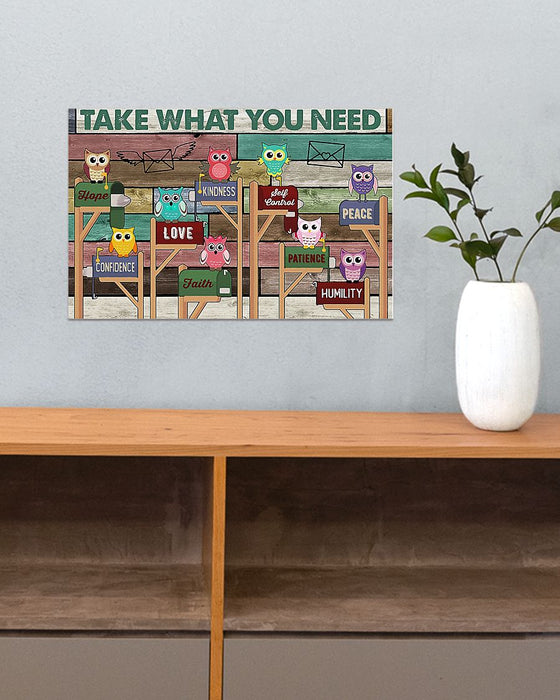Take What You Need Teacher Horizontal Canvas And Poster | Wall Decor Visual Art