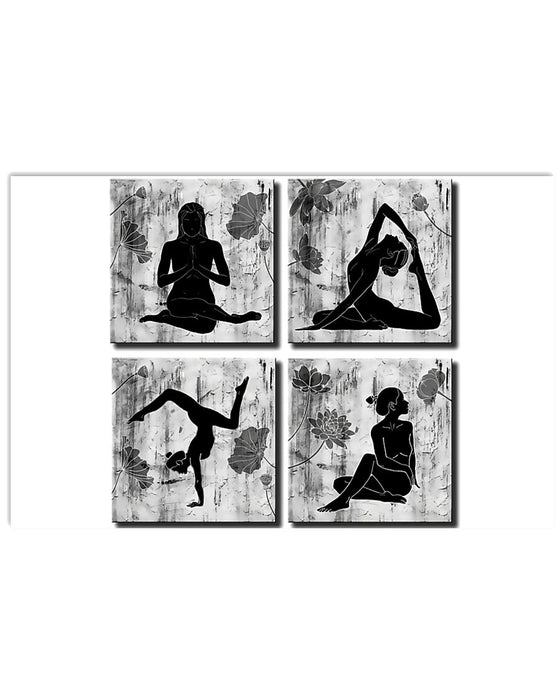 Yoga Practitioners Horizontal Canvas And Poster | Wall Decor Visual Art