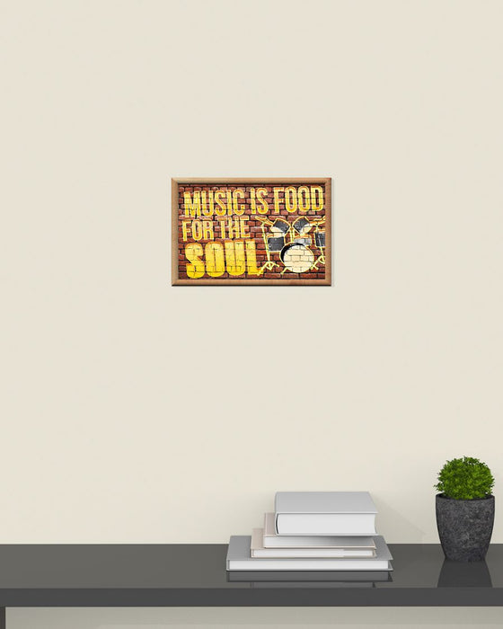 Drummer Music Is Food For The Soul Horizontal Canvas And Poster | Wall Decor Visual Art
