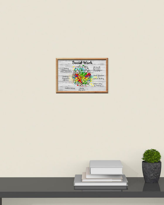 Social Worker The Atlas Of Brain Horizontal Canvas And Poster | Wall Decor Visual Art