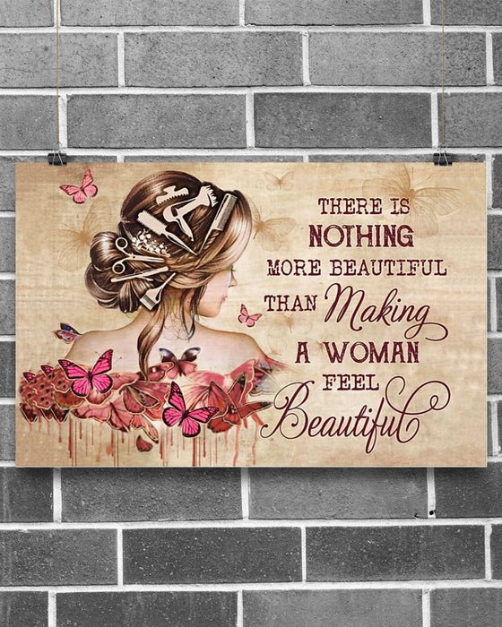 Make A Woman Feel Beautiful Hairdresser Horizontal Canvas And Poster | Wall Decor Visual Art