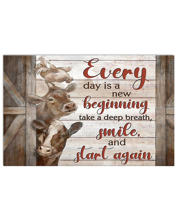 Farmer Every Day Is A New Beginning Horizontal Canvas And Poster | Wall Decor Visual Art