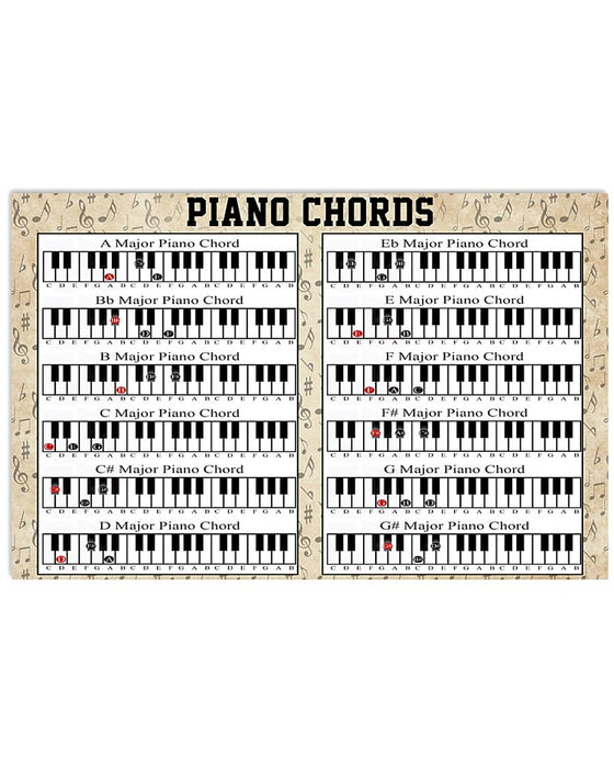 Pianist Piano Chord Horizontal Canvas And Poster | Wall Decor Visual Art