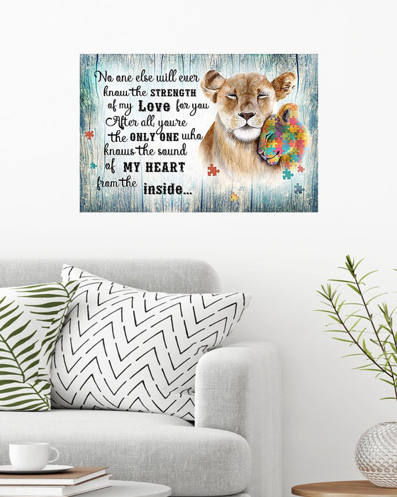 Autism You Are The Only One Horizontal Canvas And Poster | Wall Decor Visual Art