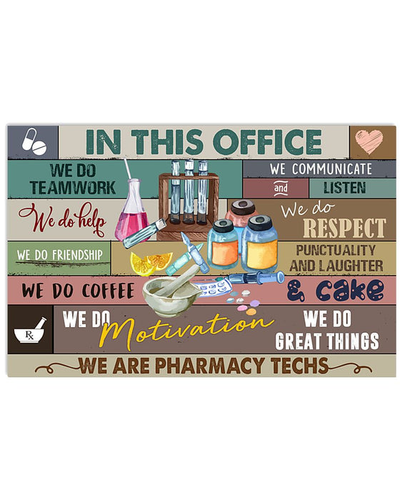 We Are Pharmacy Techs Poster Horizontal Canvas And Poster | Wall Decor Visual Art