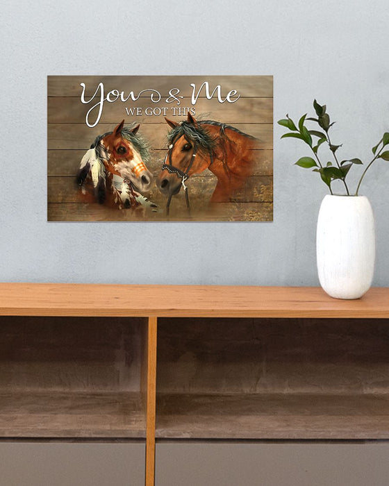 Horse Girl - You And Me Horizontal Canvas And Poster | Wall Decor Visual Art
