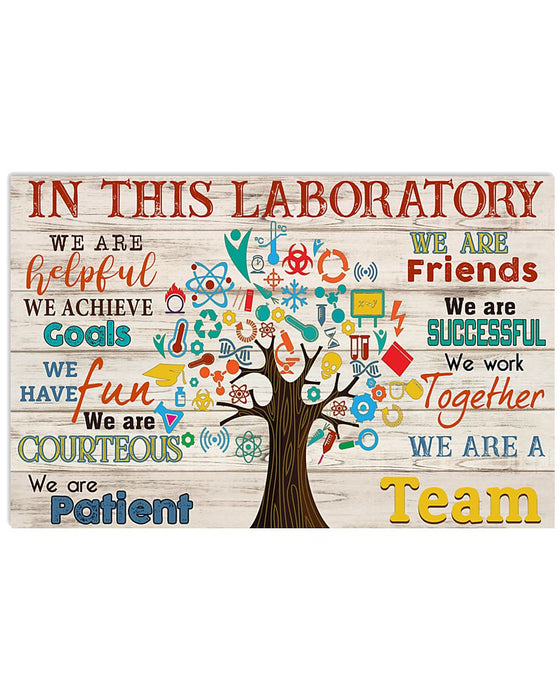 Scientist We Are A Team Horizontal Canvas And Poster | Wall Decor Visual Art