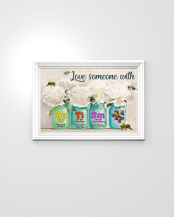 Autism Love Someone With Autism Horizontal Canvas And Poster | Wall Decor Visual Art
