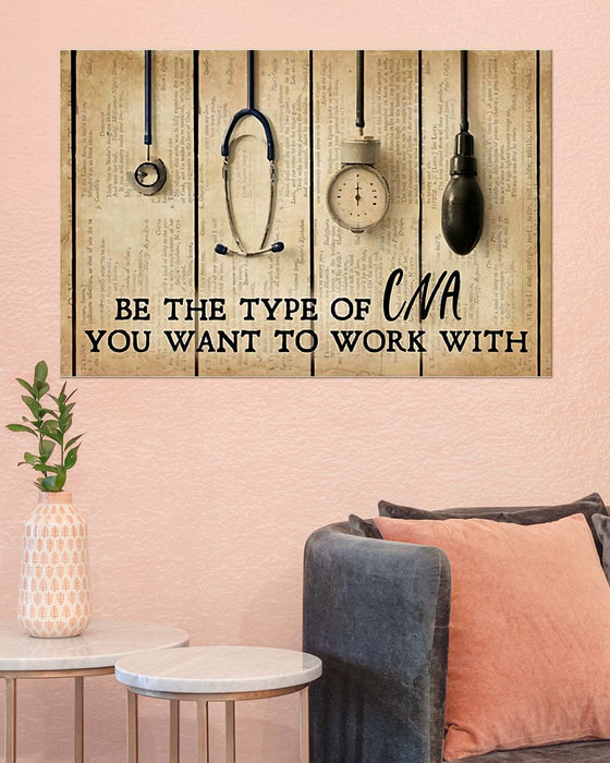 CNA Be The Type Horizontal Canvas And Poster | Wall Decor Visual Art