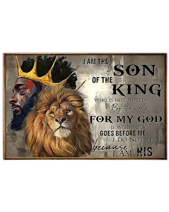 African - Black Art - Son Of The King Horizontal Canvas And Poster | Wall Decor Visual Art