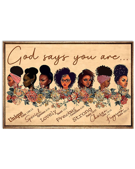 African - Black Art - God Says You Are New One Horizontal Canvas And Poster | Wall Decor Visual Art