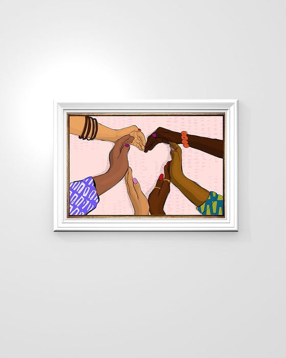 African - Black Art - Together We Are Horizontal Canvas And Poster | Wall Decor Visual Art