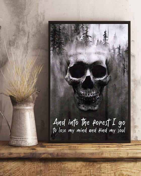 Skull Art - And Into The Forest Vertical Canvas And Poster | Wall Decor Visual Art