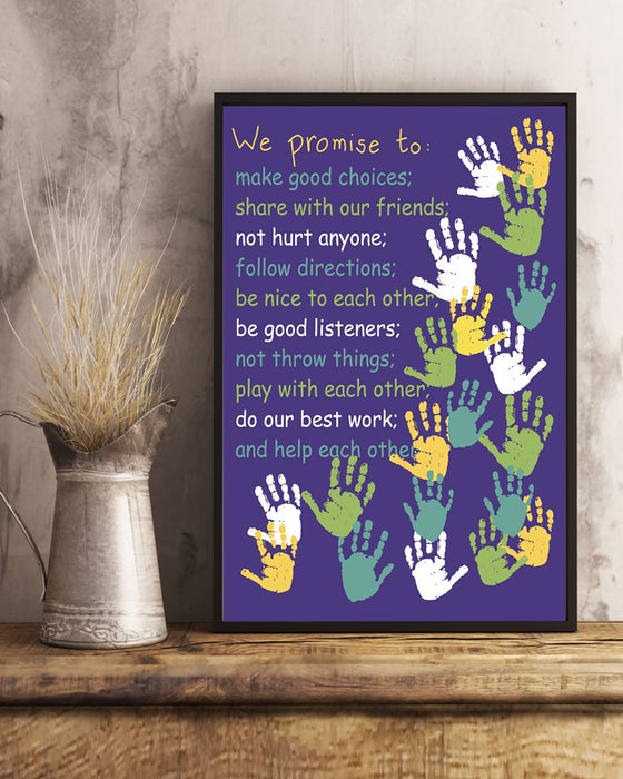 We Promise To Poster Black Version Vertical Canvas And Poster | Wall Decor Visual Art