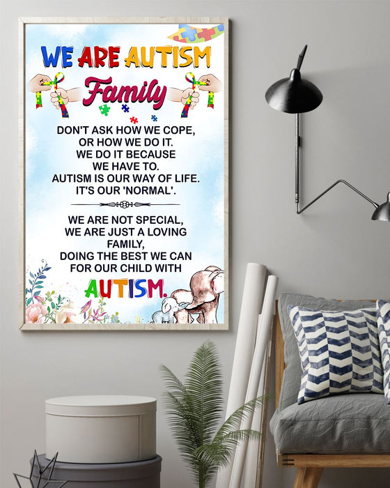 Autism We Are Autism Family Vertical Canvas And Poster | Wall Decor Visual Art