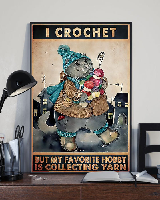 Crochet And Knitting My Hobby Is Collecting Yarn Vertical Canvas And Poster | Wall Decor Visual Art