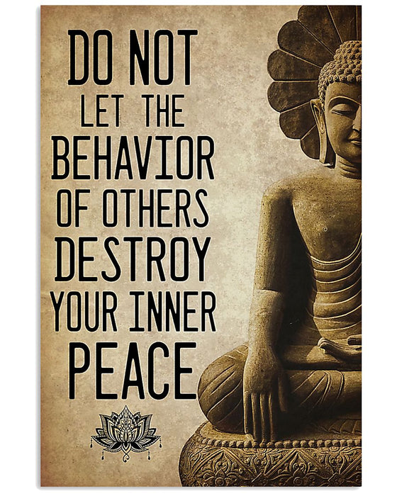 Yoga Your Inner Peace Vertical Canvas And Poster | Wall Decor Visual Art