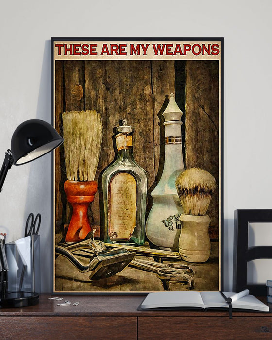 Hairdresser These Are My Weapons Vertical Canvas And Poster | Wall Decor Visual Art
