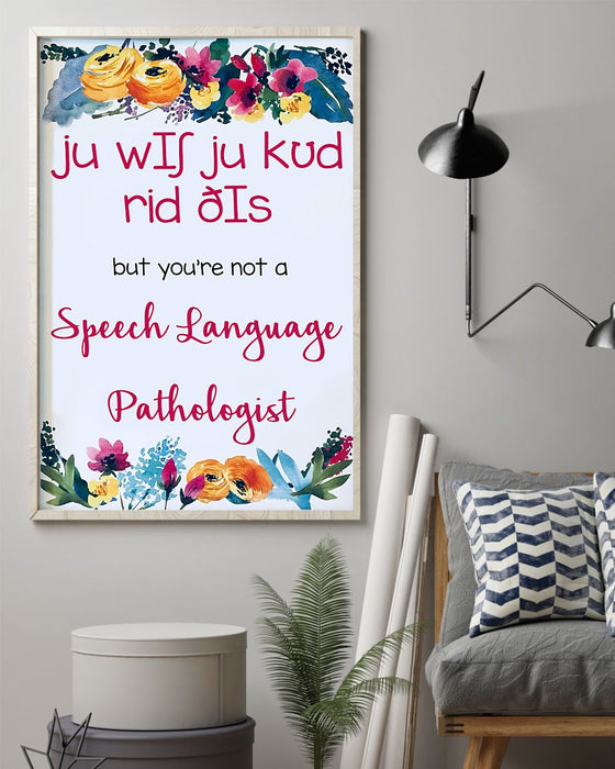 Speech Language Pathologist Wish Vertical Canvas And Poster | Wall Decor Visual Art