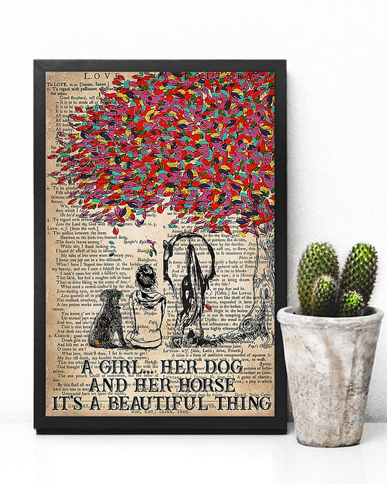 Horse Girl It's A Beautiful Thing Vertical Canvas And Poster | Wall Decor Visual Art