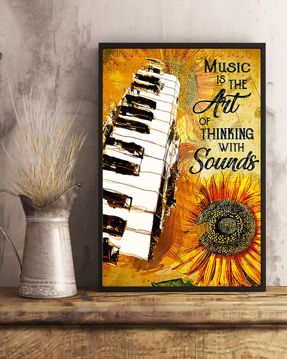 Piano Music Is The Art Of Thinking With Sounds Vertical Canvas And Poster | Wall Decor Visual Art