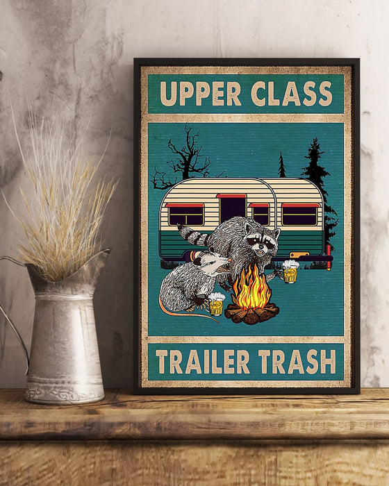 Camping Upper Class Trailer Trash Vertical Canvas And Poster | Wall Decor Visual Art