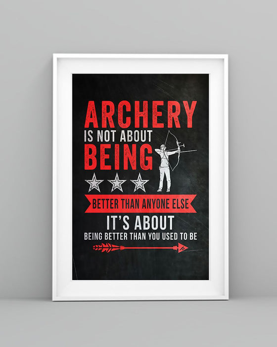 Archery Makes You Be Confident Vertical Canvas And Poster | Wall Decor Visual Art