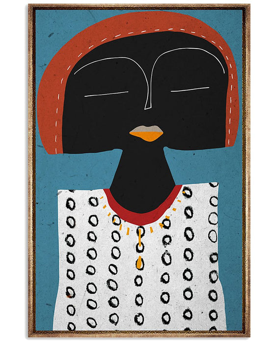 African - Black Art - Funny Face 2 Vertical Canvas And Poster | Wall Decor Visual Art
