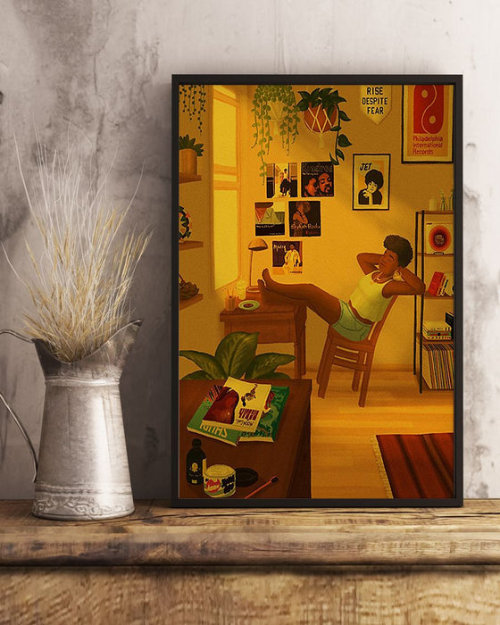 African - Black Art - Chilling Litte Boy Vertical Canvas And Poster | Wall Decor Visual Art